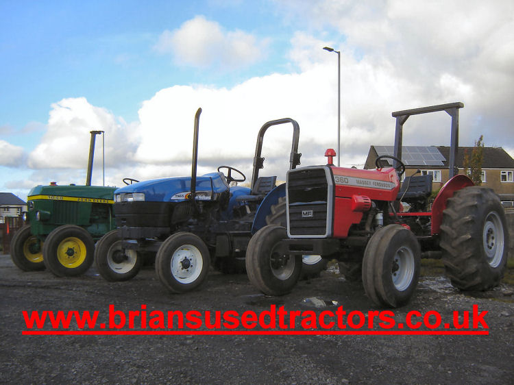 Sub 80 hp Tractors for sale New Holland TN 65 Massey Ferguson 360 John Deere 1040