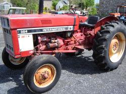 international 384 cabless power steered tractor for sale